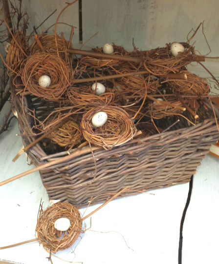 Decorative bird nests